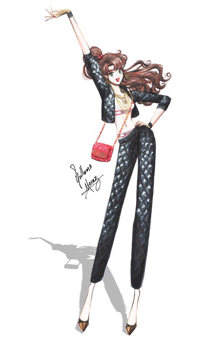 Sailor Jupiter in Moschino outfit by frozen-winter-prince