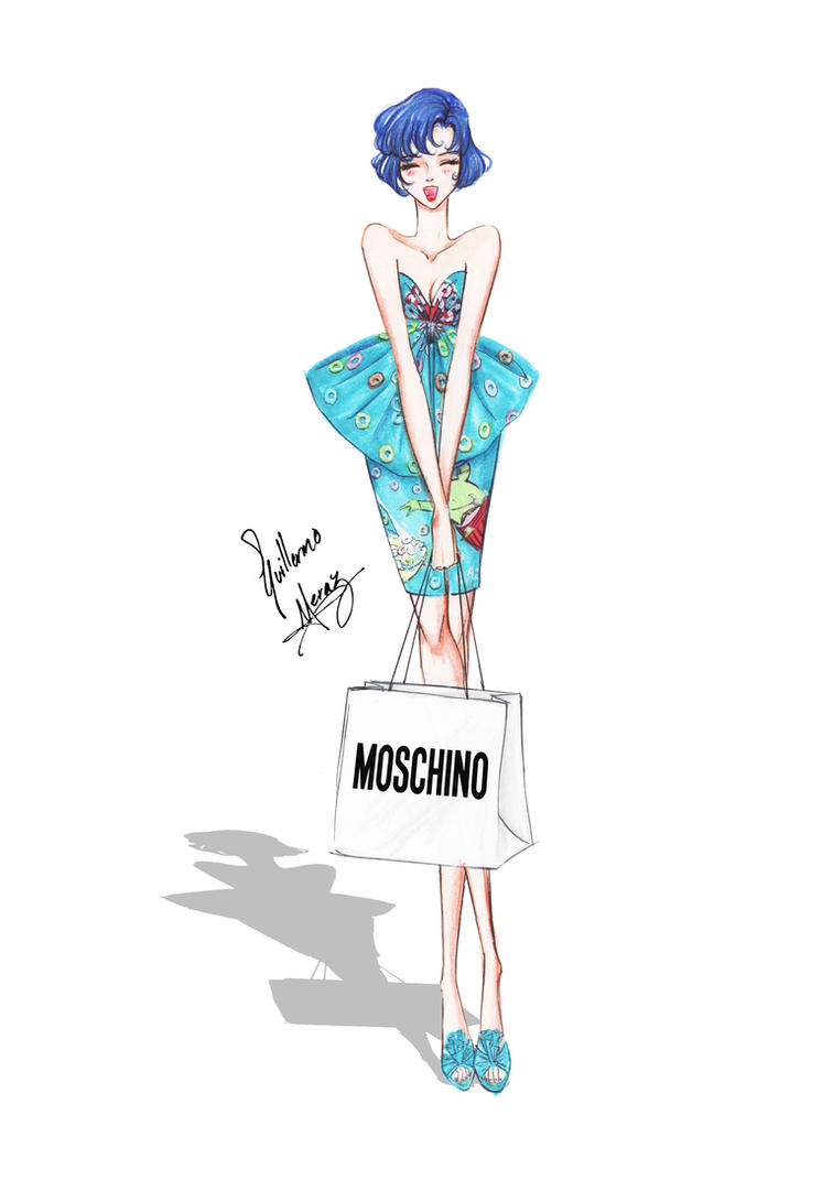 Sailor Mercury in Moschino outfit. by frozen-winter-prince