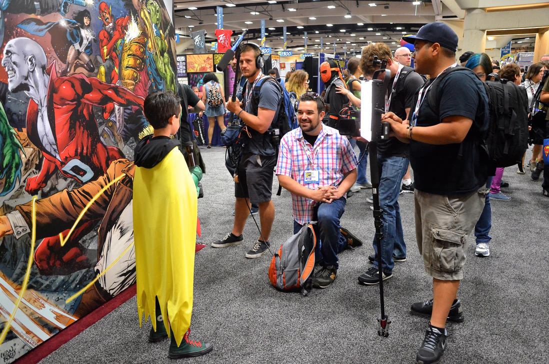 Jakey being interviewed by DC Nation! by FloresFabrications