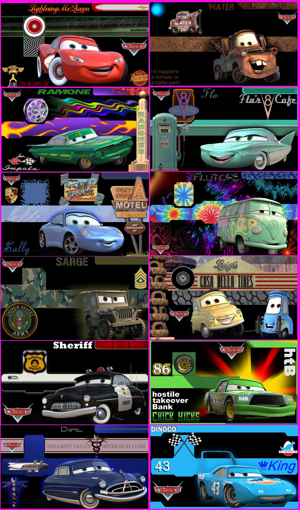 Disney-Pixar's Cars. by greendrakkon