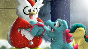 Feliz Navidad Totodile by All0412