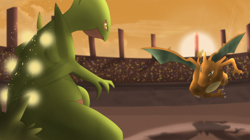 Sceptile vs Charizard by All0412
