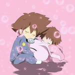 Cute digimon moment
