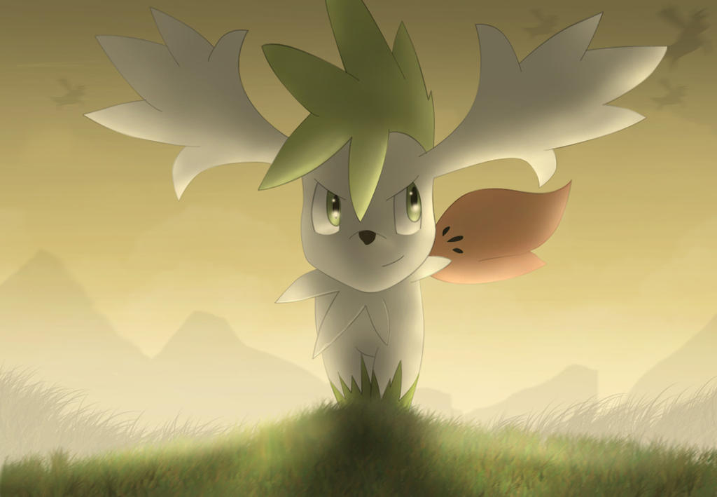 Shaymin Sky form by All0412 on DeviantArt