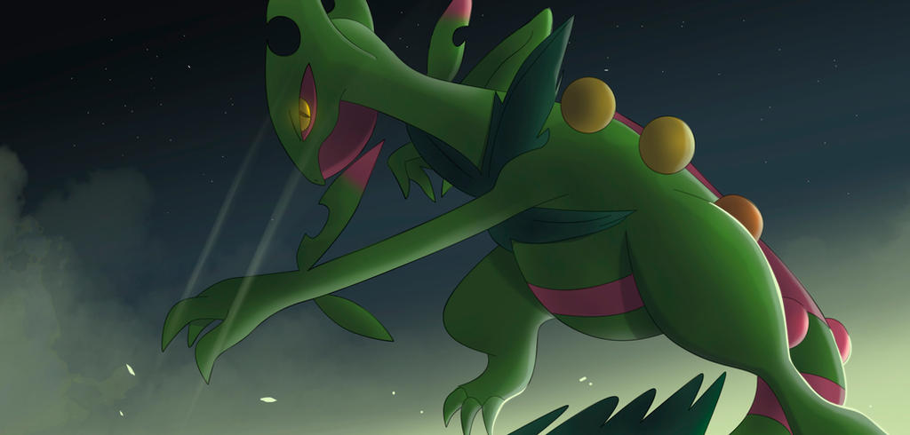 Mega Sceptile by All0412 on DeviantArt