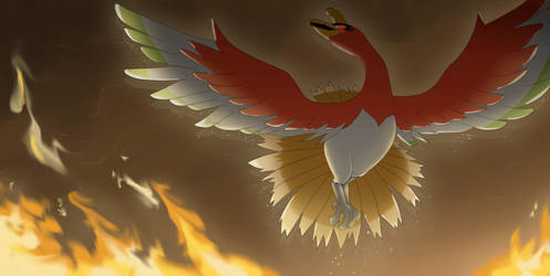Commission: Ho-oh by All0412