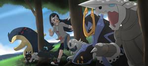 Commission: Pokemon Team Azulann