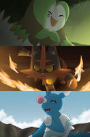 Alola Starters by All0412