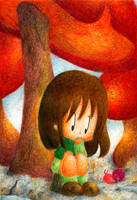 Under the Giant Mushroom by MeiFeng08