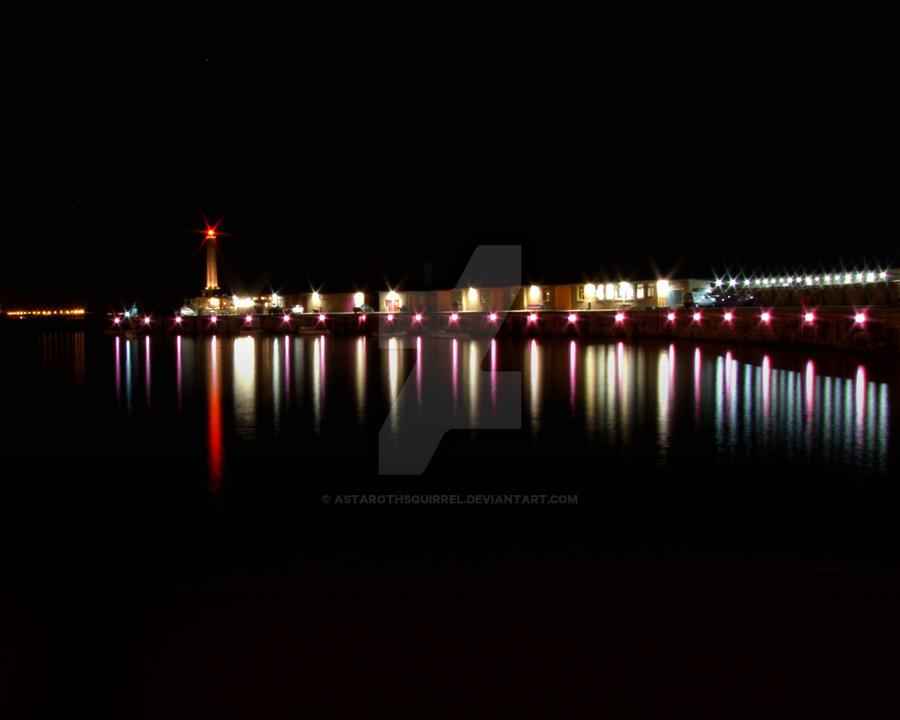 Margate Harbour At Night by AstarothSquirrel