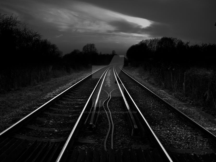 Westbere Train-Tracks by AstarothSquirrel