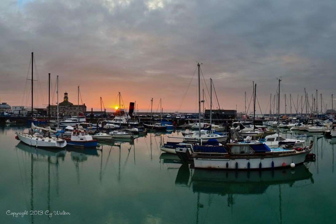 Sunrise at Ramsgate Marina by AstarothSquirrel