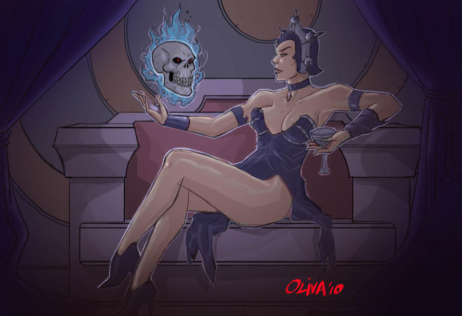 Evil-lyn dreaming of Skeletor by AZNbebop