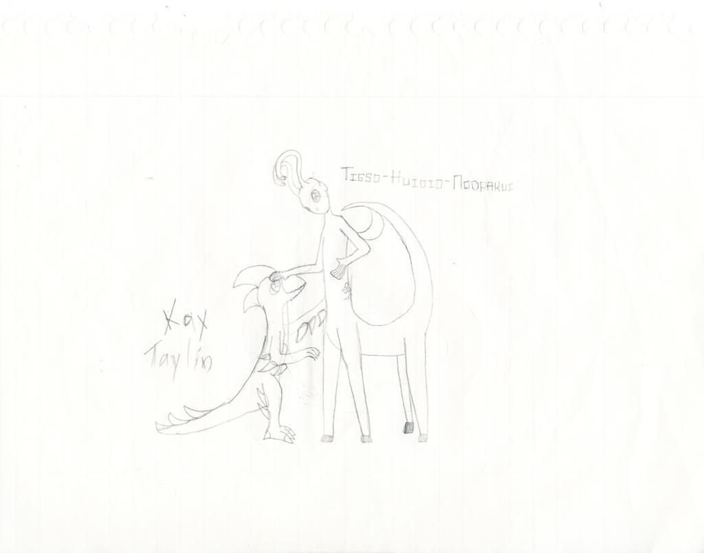 Tisso-Huioio-Nodrakui And Kay Taylin. by xTheShinyMewGirlx