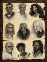 The First Law Trilogy Portraits by SarahLynnReynolds