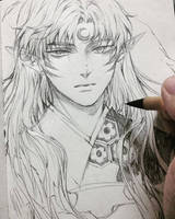 [PA] Sesshomaru - Fanart by bizzybiin