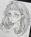 Fuzzy hair girl