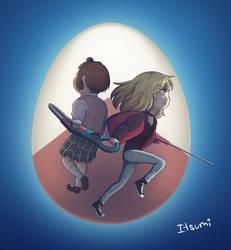 Kawai Rika and Chiemi by Itsumi1