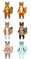 Planet inspired foxes ( adoptables ) by Creepymarty2