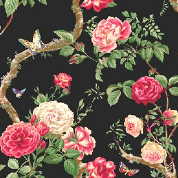 Scrapbook Black Floral Papers By Five5Cats On DeviantArt