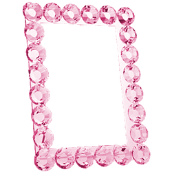 Pink Crystal Frame by Five5Cats