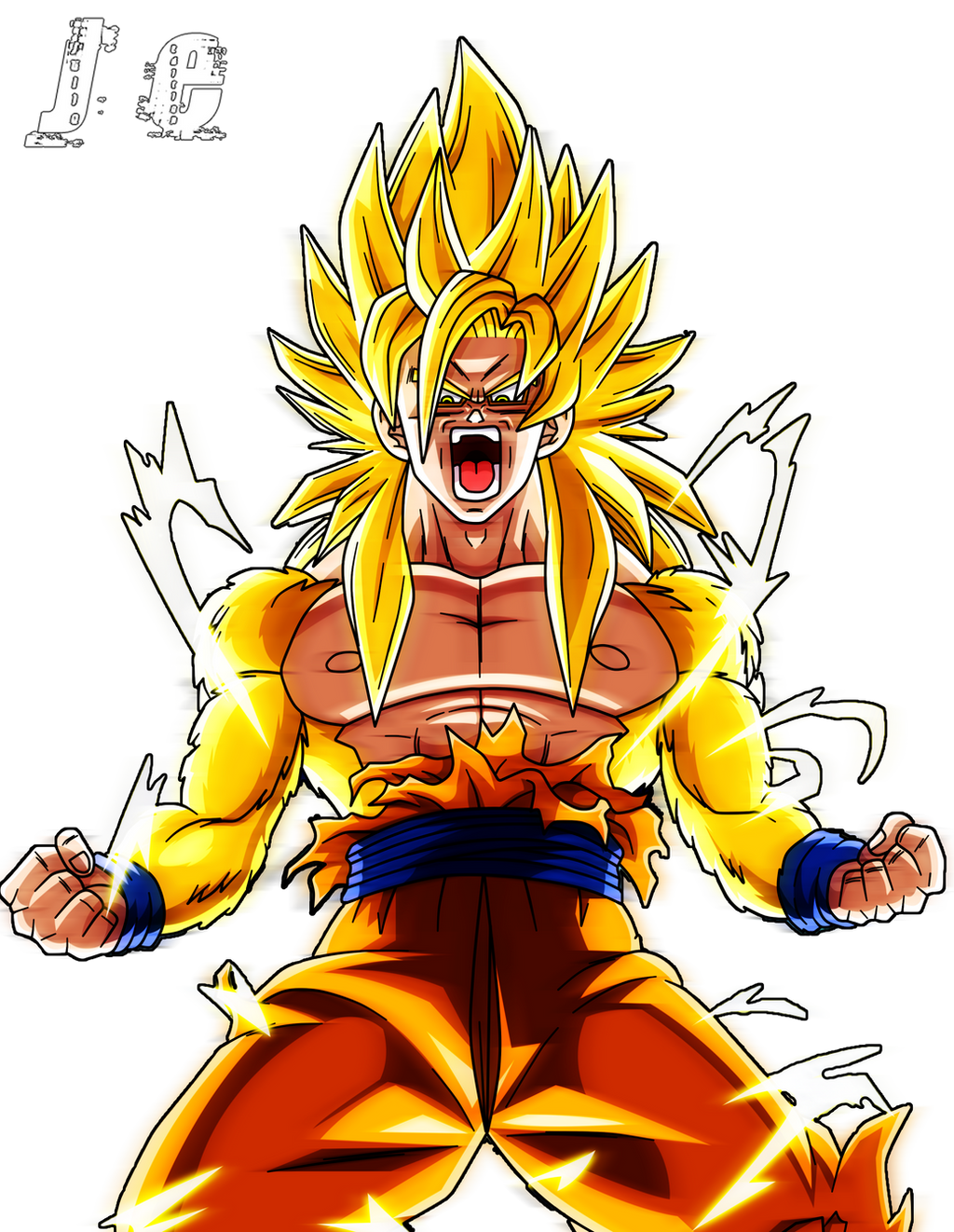 ultra - Goku ultra saiyajin ssj 4 con extra - Página 2 Render_de_kakarotto_ssj_dios_dorado_by_juliox11-d75p670