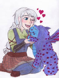 Gronkle love by magicinfinitymarkers