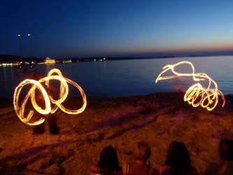Fire dancers by SaKoz-Unleashed