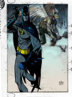 batman and hawkman by Andrew-Robinson