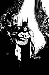 batman in the rabbit hole