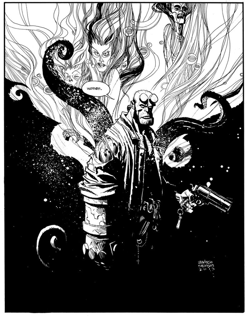 Hellboy by Andrew-Robinson