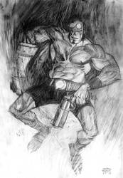 Hellboy Pencil Commission by Andrew-Robinson