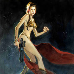 Princess Leia by Andrew-Robinson