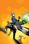 Quantum And Woody Cover Blue Glasses And Green