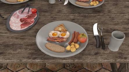 Breakfast in Sword of Wonder never looked so good by gatesjillianwriter