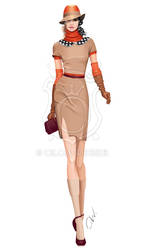 Fashion illustration: elegant city look by Ollustrator