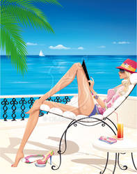 Lifestyle illustration: dreaming of summer by Ollustrator