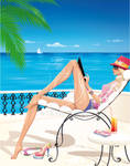 Lifestyle illustration: dreaming of summer