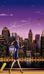 Lifestyle Illustration: Weekend in NY by Ollustrator