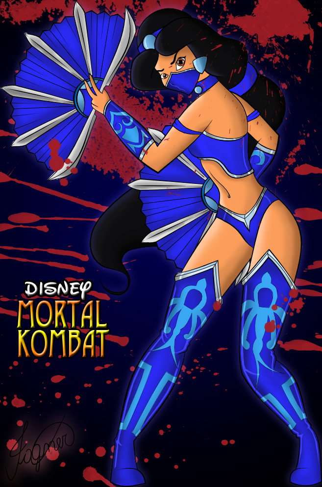 Jasmine as Kitana - Disney Mortal Kombat by Fagner1994