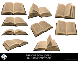 Open Book (Pre-cut Stock) by KarvinenStock
