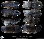 Moose Hooves (Pre-cut Stock)