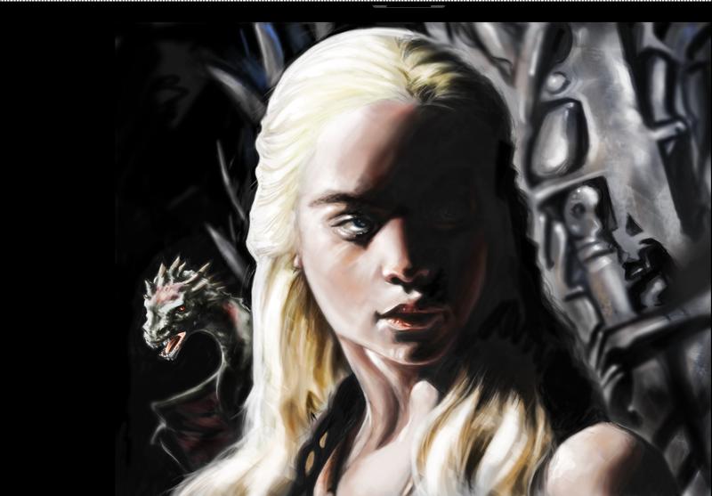Khaleesi + Dragon by DaharIRIS