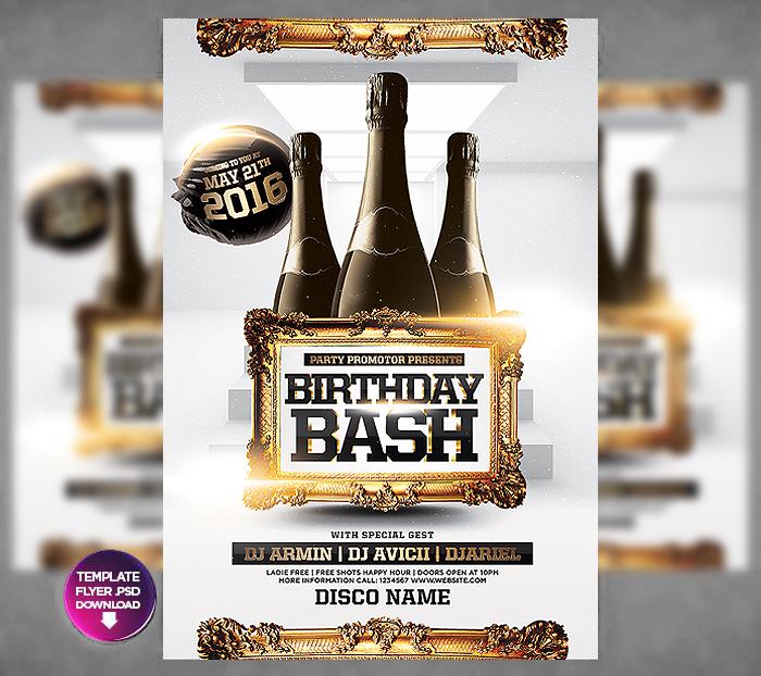 birthday bash flyer by bynelson2 on deviantart
