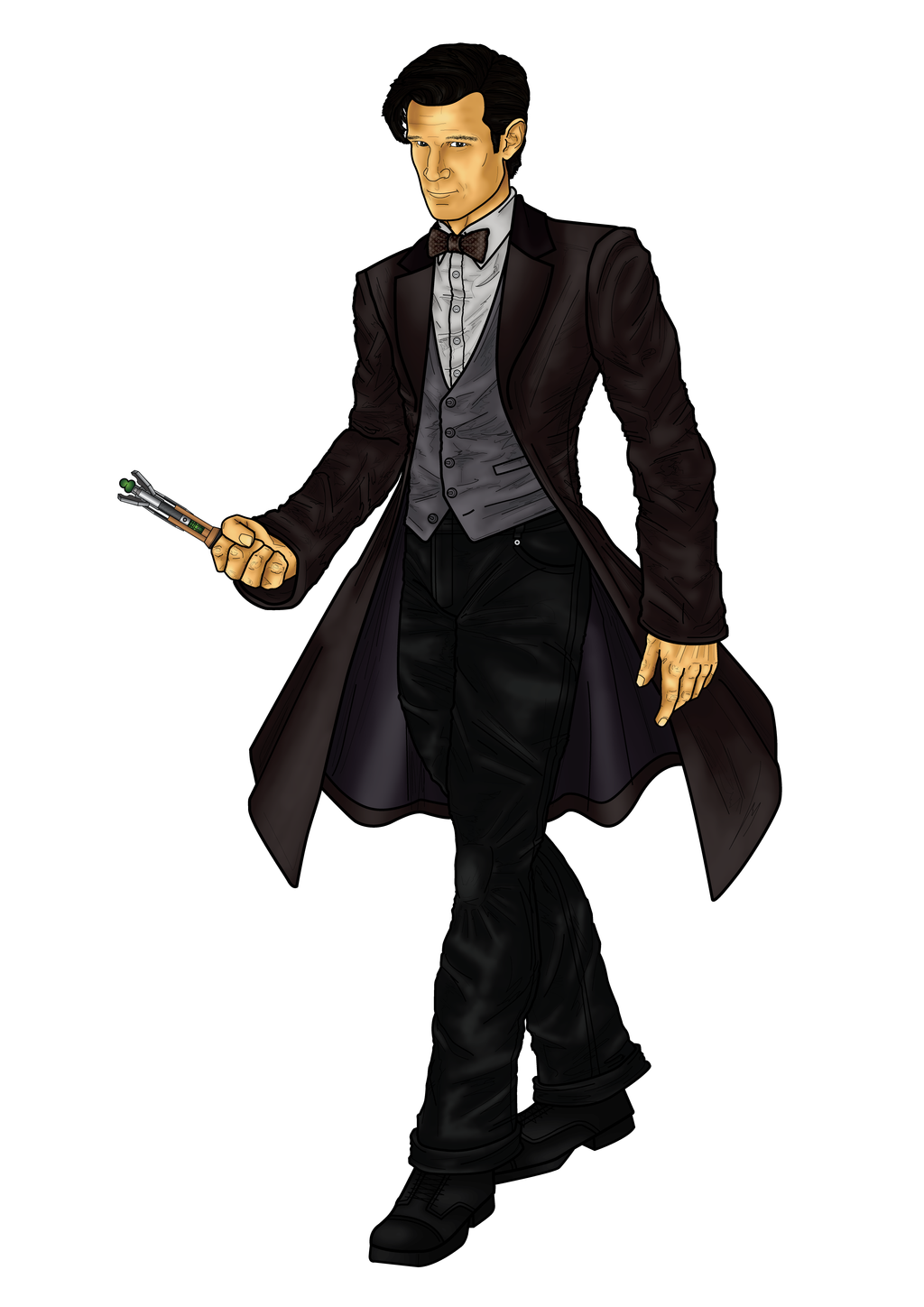 new 11th doctor who by cosmicthunder on deviantart