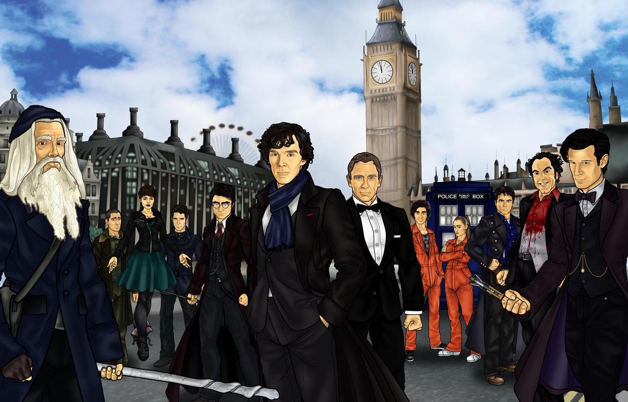 The UK Avengers by CosmicThunder