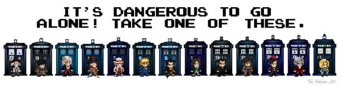 8-bit Doctors (update) by CosmicThunder