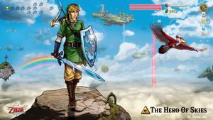 Legend Of Zelda Link - The Hero Of Skies
