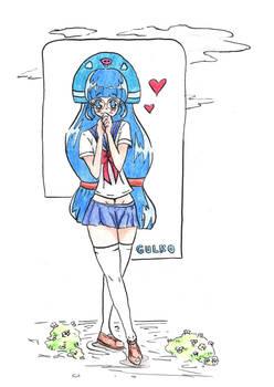 Gluko as a Schoolgirl