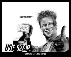 Brad Pitt as Tyler Durden by Monkey-Jack